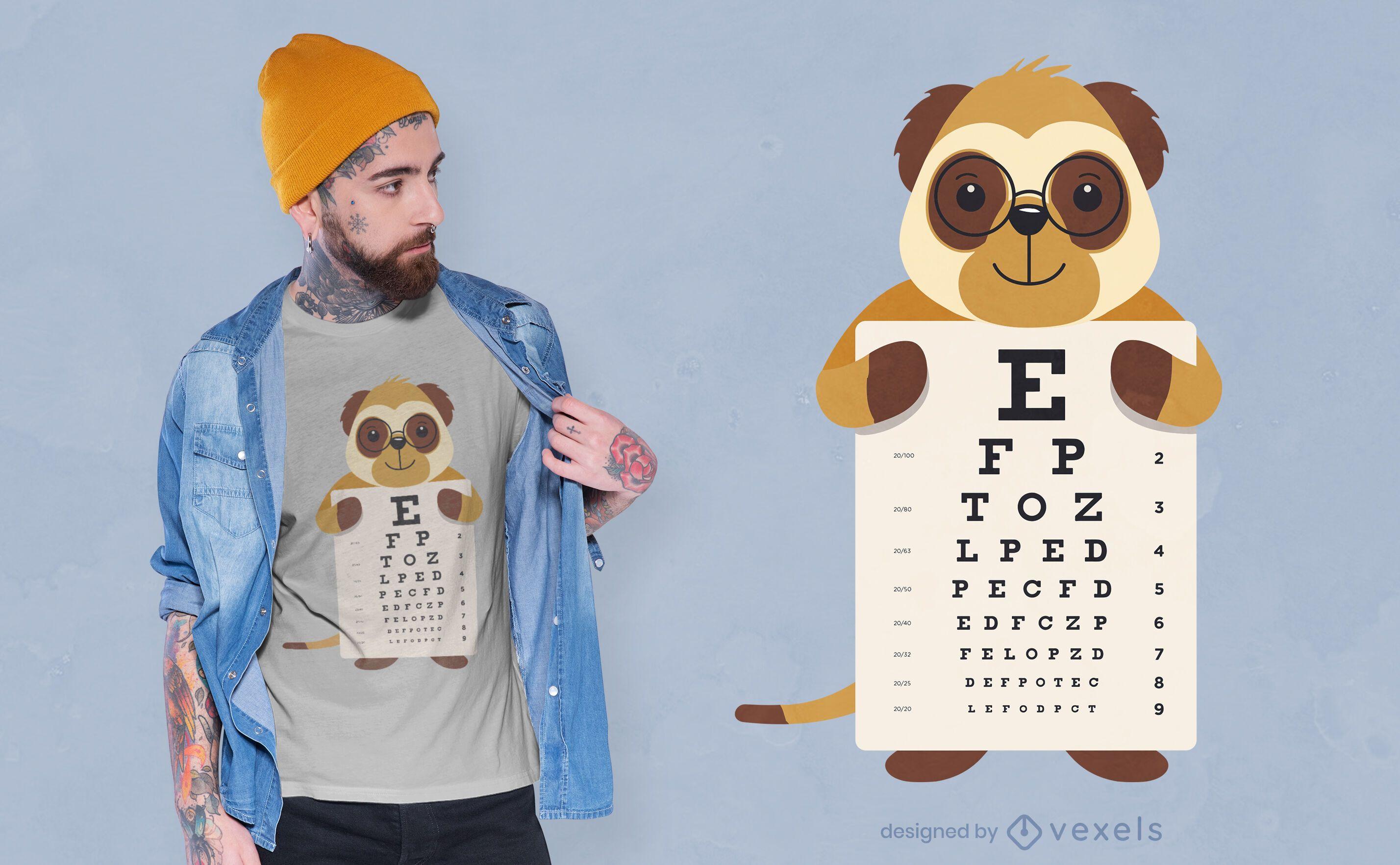 Augentabelle Erdmännchen T-Shirt Design