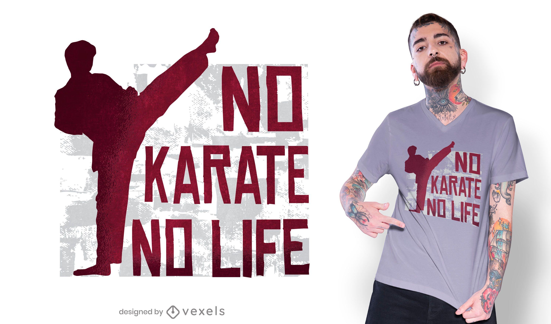 Diseño de camiseta de cita de karate
