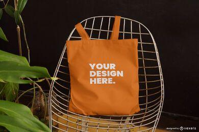 Projeto de maquete de cadeira de sacola