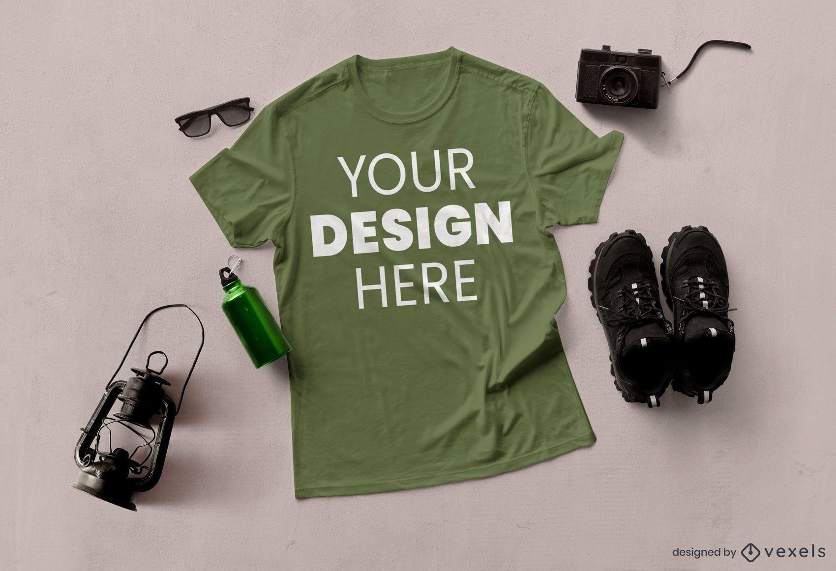 Abenteuer T-Shirt Modell Zusammensetzung