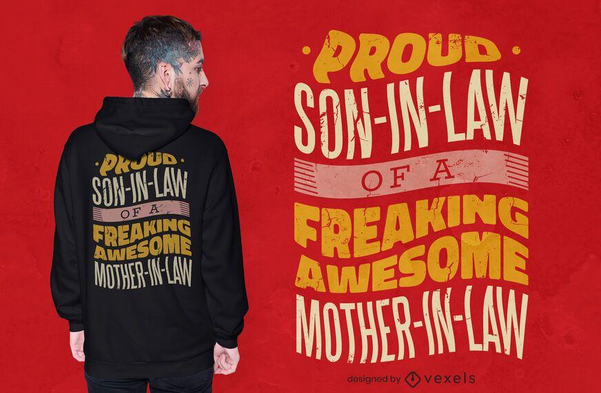 Diseño de camiseta de yerno