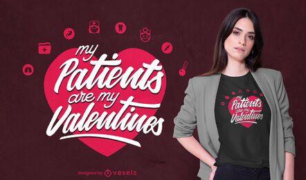 Pacientes são o design da minha camiseta para namorados