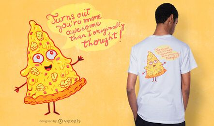 Design de t-shirt de pizza de abacaxi