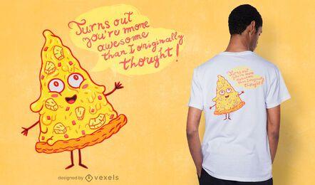 Diseño de camiseta de pizza de piña