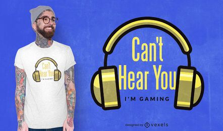 Não consigo ouvir o design da sua camiseta