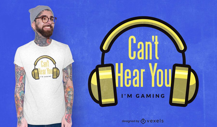 Can't hear you t-shirt design
