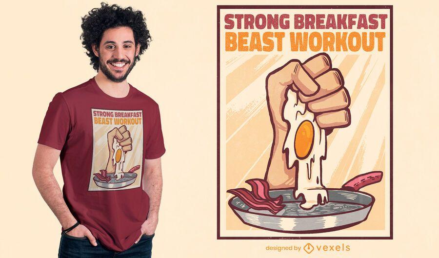 Diseño de camiseta de entrenamiento de bestia