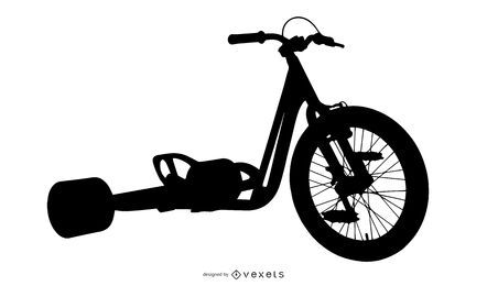 Diseño de silueta de bicicleta de deriva