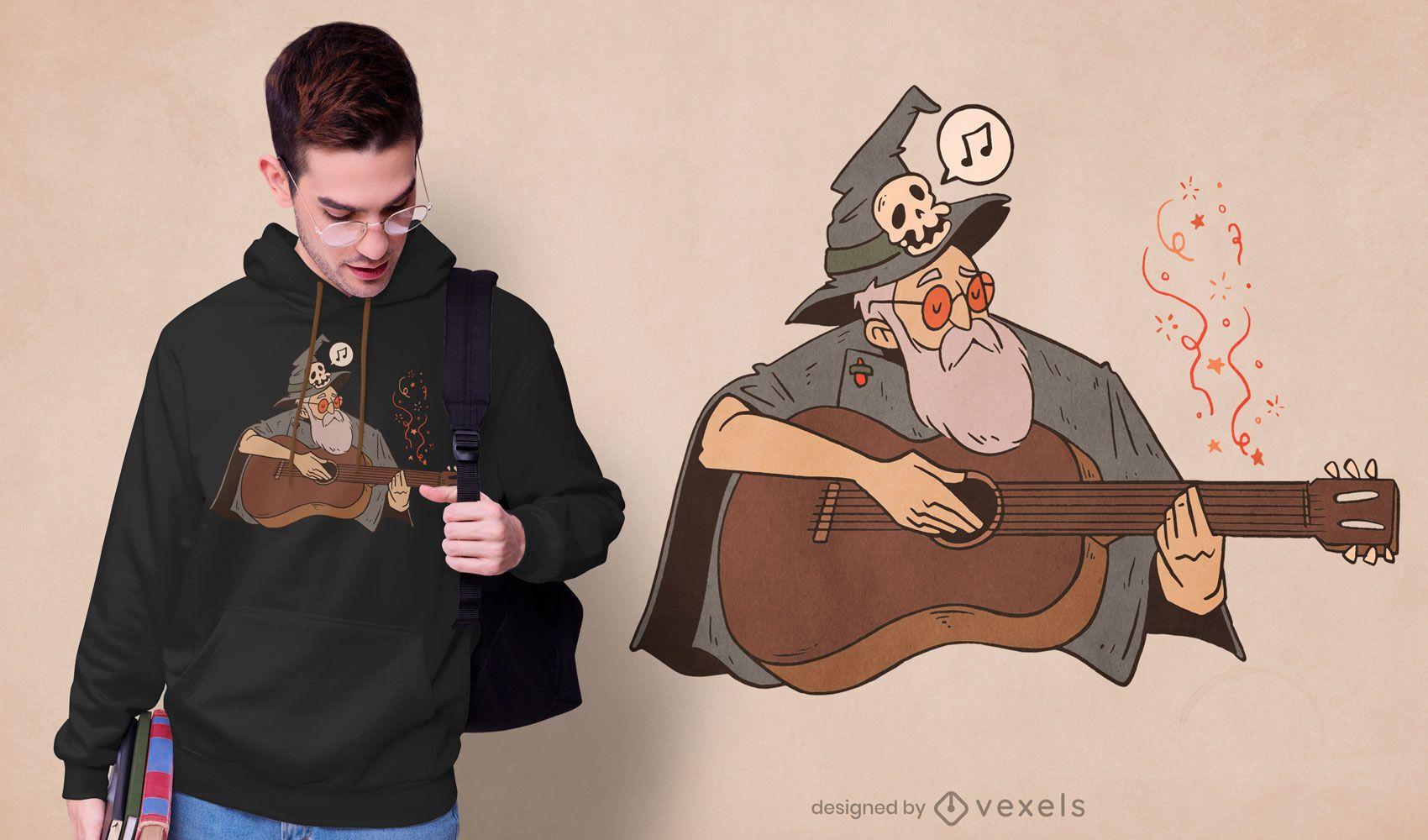 Musician wizard t-shirt design