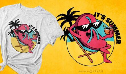 Diseño de camiseta de verano flip-flop.