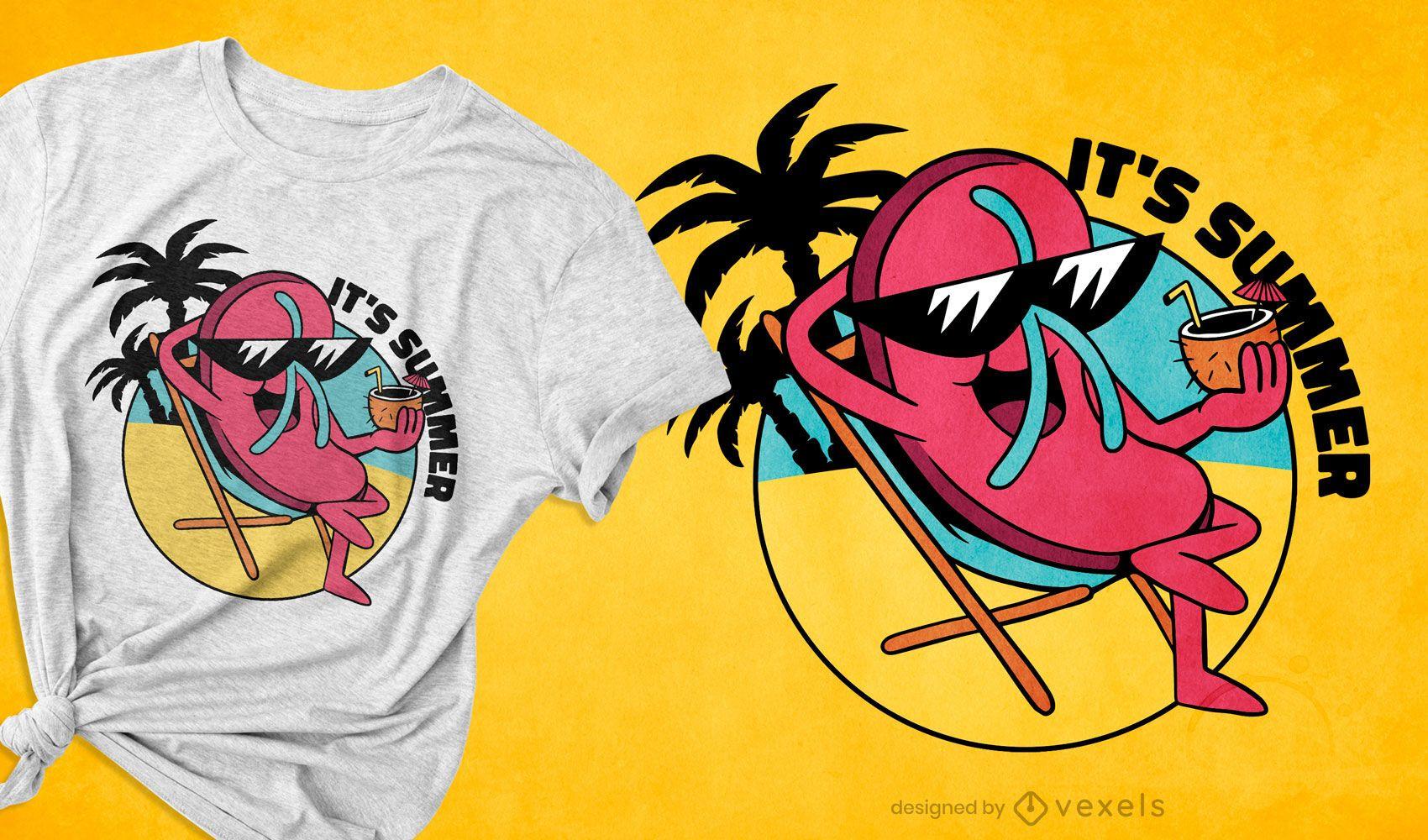 Flip-flop summer t-shirt design