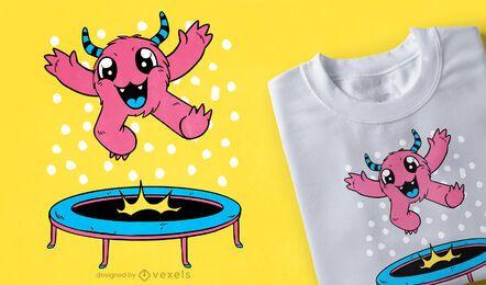 Design de camiseta de trampolim monstro