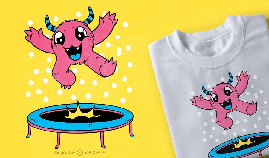 Diseño de camiseta de trampolín monstruo