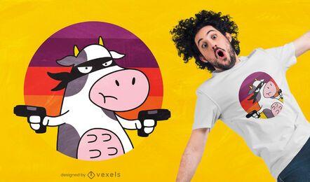 Diseño de camiseta de ladrón de vacas