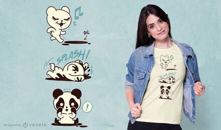Design de camiseta do urso panda polar