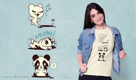 Diseño de camiseta de oso panda polar