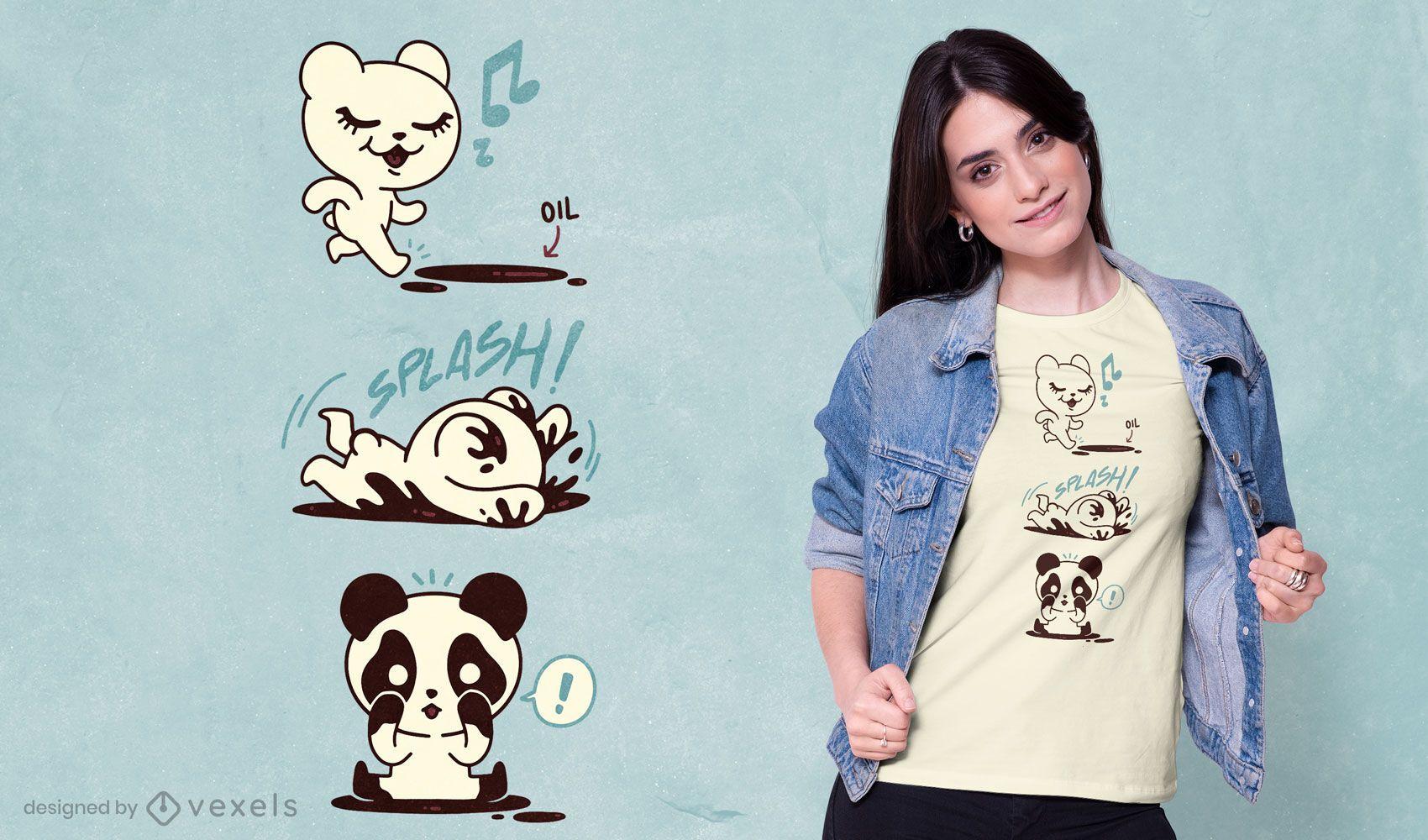 Polar panda bear t-shirt design