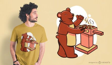 Design de t-shirt Bear Grill