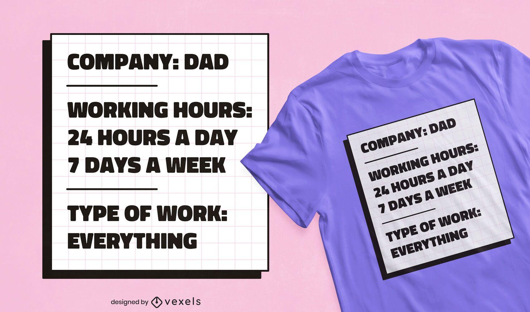 Diseño de camiseta de papá.