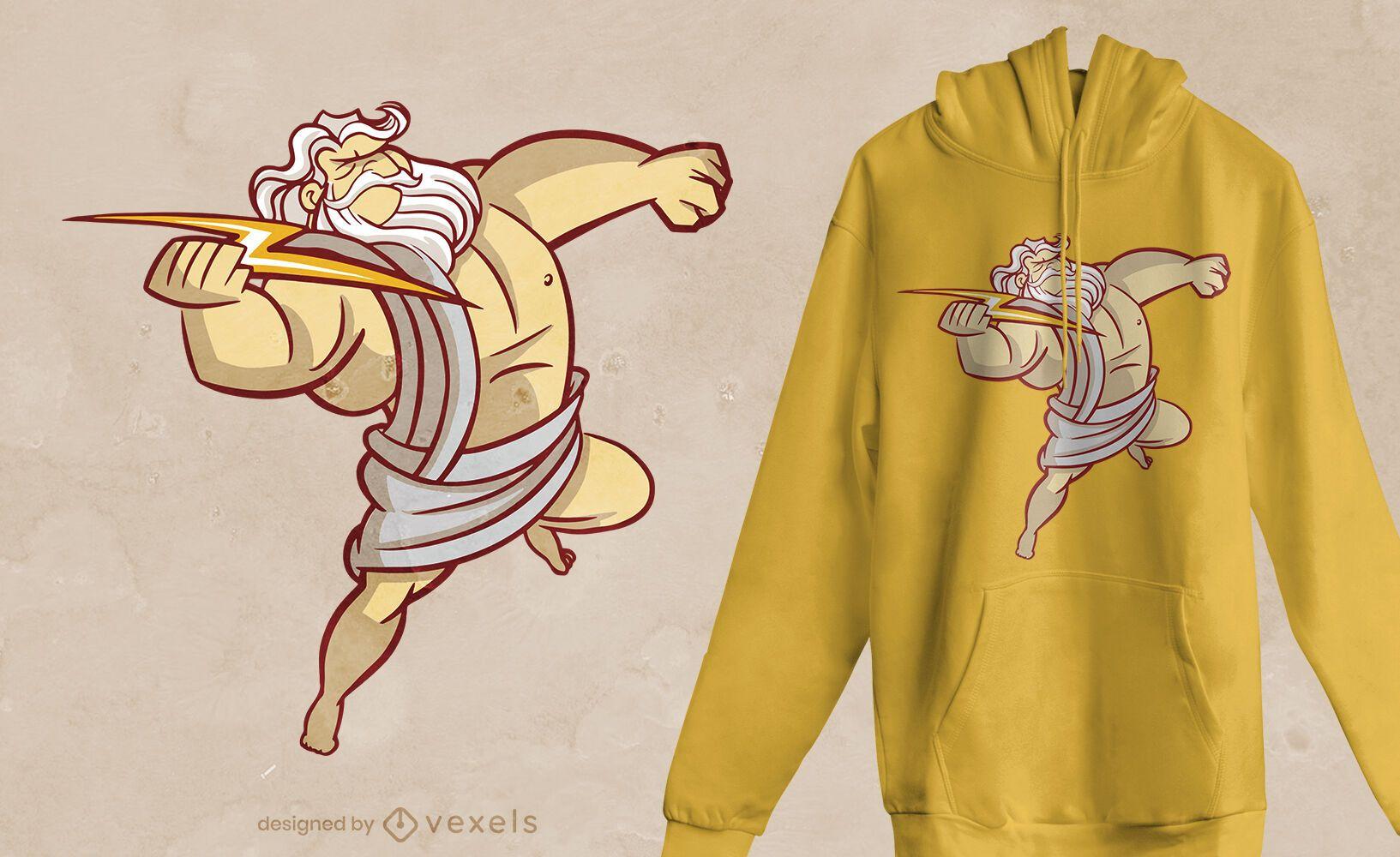 Zeus bolt t-shirt design