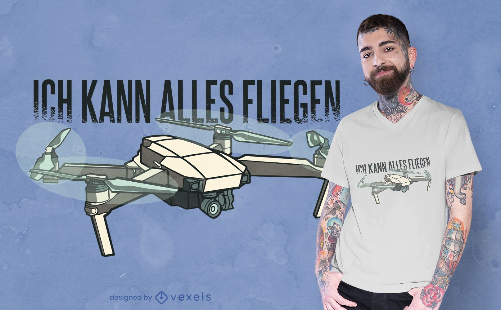 Drone German t-shirt design