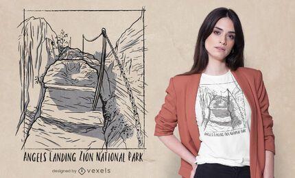 Design de camisetas do Parque Nacional de Zion