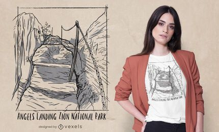 Diseño de camiseta del Parque Nacional Zion