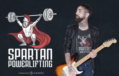 Diseño de camiseta de levantamiento de pesas espartano