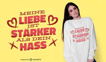 Diseño de camiseta Feelings German quote