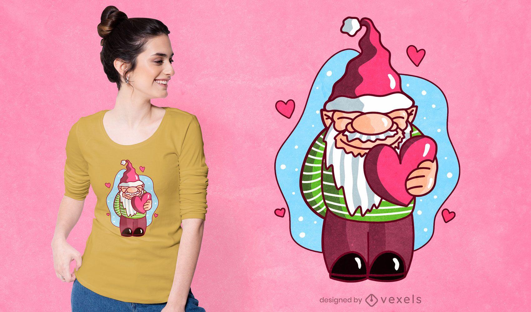 Cute gnome t-shirt design
