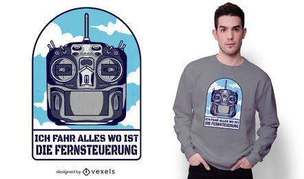 Dron control t-shirt design