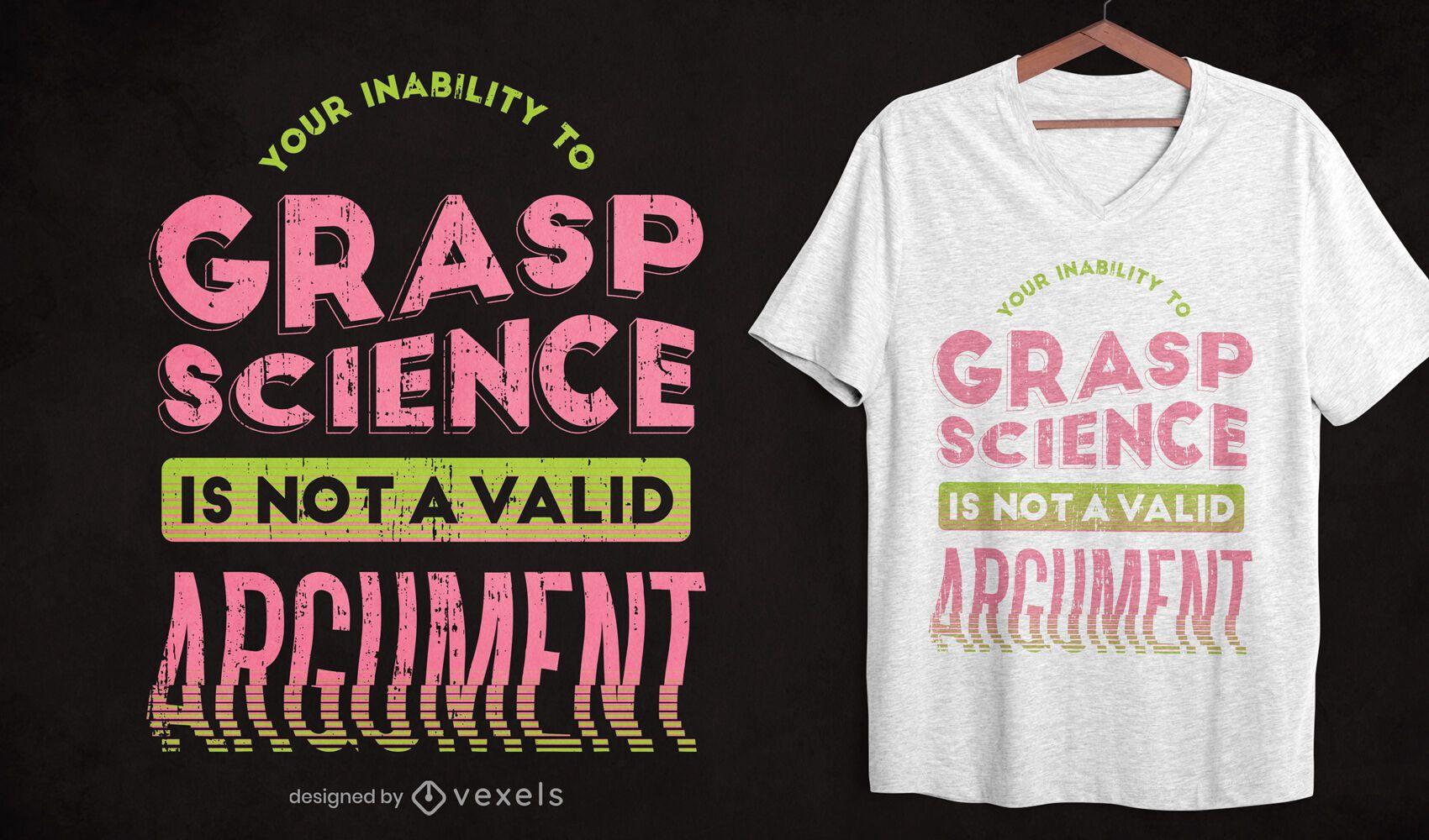 Diseño de camiseta de argumento no válido