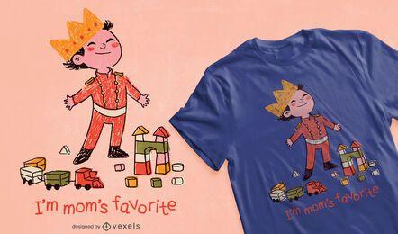 O design favorito de camisetas da mamãe
