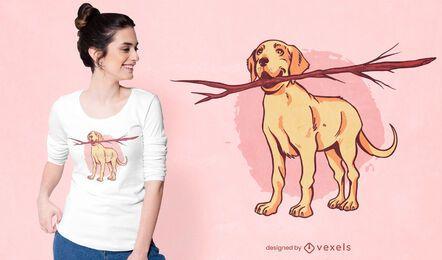 Design de t-shirt labrador stick