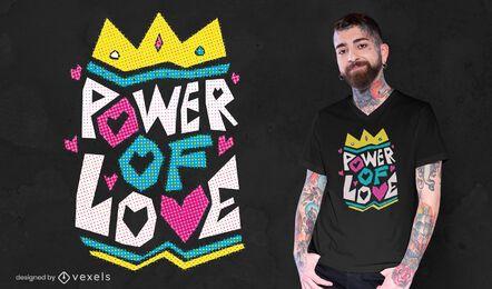 Poder do amor no design de camisetas