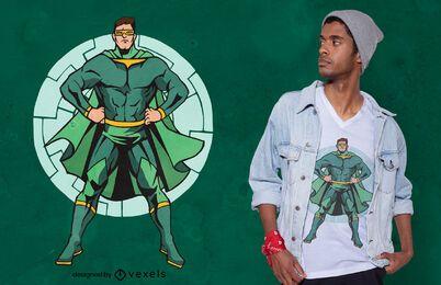 Green superhero t-shirt design