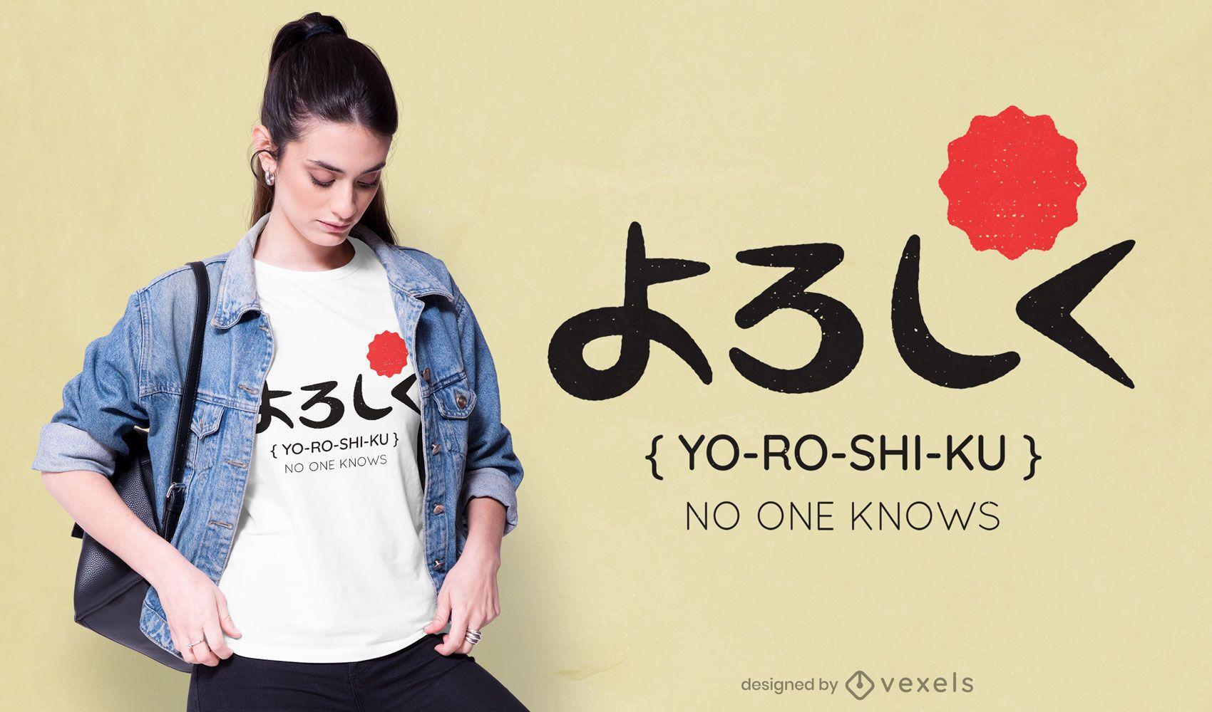 Diseño de camiseta Yoroshiku