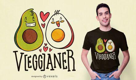 Diseño de camiseta Vegganer