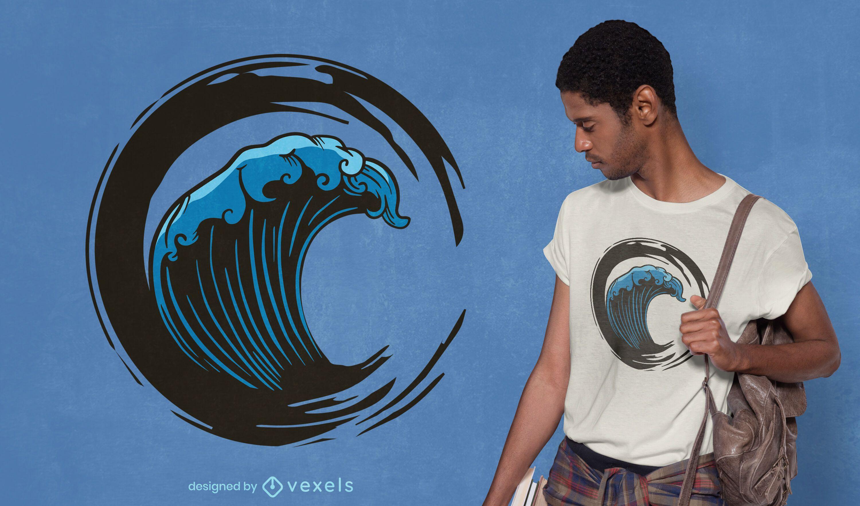 Diseño de camiseta Brush Wave