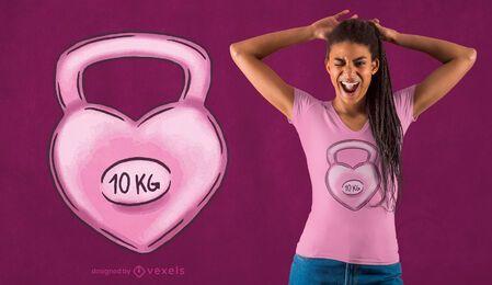 Kettlebell heart t-shirt design