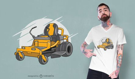 Lawn mower t-shirt design