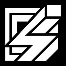 Logotipo abstracto cuadrado perno 3d