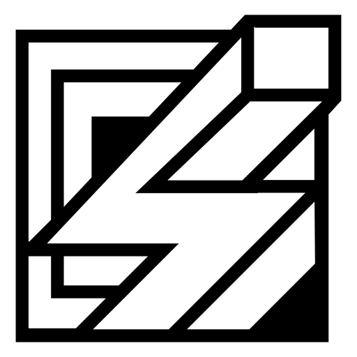 3d bolt square abstract logo