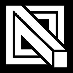 Logo abstracto cuadrado 3d