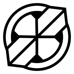 Abstract circle cross logo