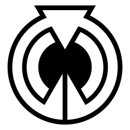 Abstract circle triangle logo