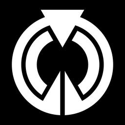 Logotipo de triángulo círculo abstracto