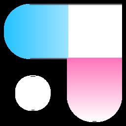 Logo degradado abstracto