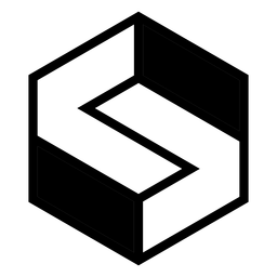 Abstract monochrome hexagon logo