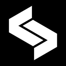 Logotipo hexágono monocromático abstrato